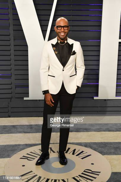 Karamo Brown attends the 2019 Vanity Fair Oscar Party hosted by Radhika Jones at Wallis Annenberg Center for the Performing Arts on February 24, 2019...