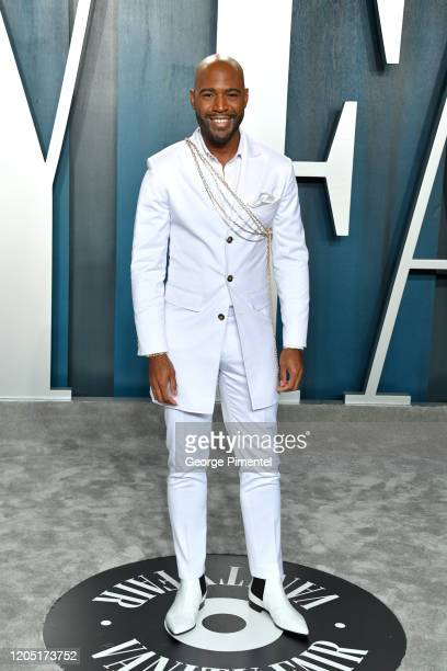 Karamo Brown attends the 2020 Vanity Fair Oscar party hosted by Radhika Jones at Wallis Annenberg Center for the Performing Arts on February 09, 2020...