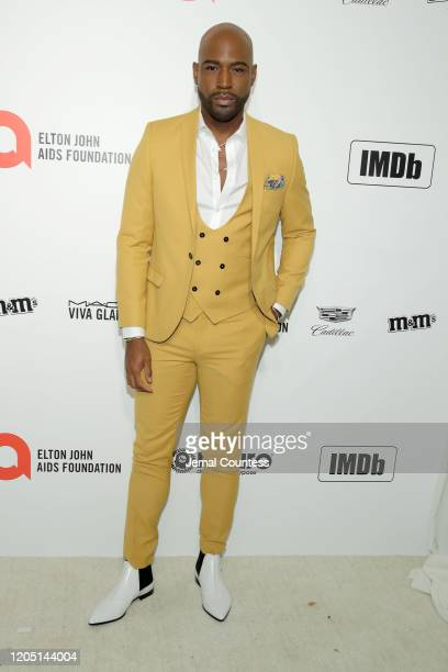 Karamo Brown attends the 28th Annual Elton John AIDS Foundation Academy Awards Viewing Party sponsored by IMDb, Neuro Drinks and Walmart on February...