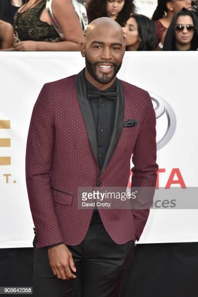 Karamo Brown attends the 49th NAACP Image Awards Arrivals at Pasadena Civic Auditorium on January 15 2018 in Pasadena California