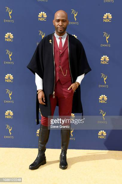 Karamo Brown attends the 70th Emmy Awards at Microsoft Theater on September 17 2018 in Los Angeles California