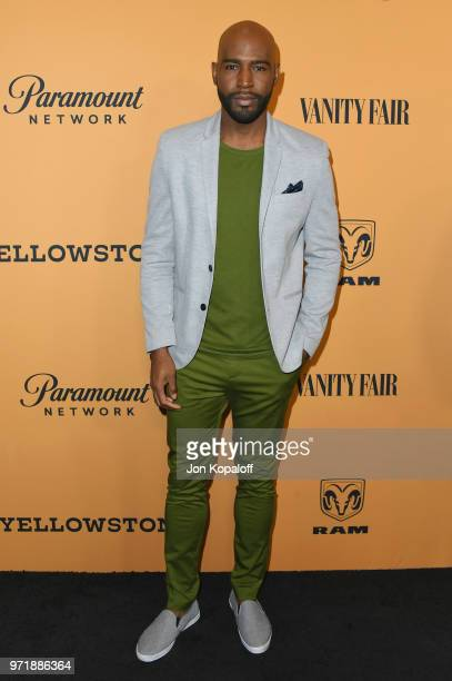 Karamo Brown attends the premiere of Paramount Pictures' Yellowstone at Paramount Studios on June 11 2018 in Hollywood California