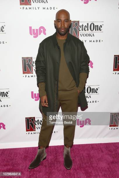 Karamo Brown attends The Queer Eye Emmy Cast Party hosted by Ketel One FamilyMade Vodka at Kimpton La Peer Hotel on September 8 2018 in West...