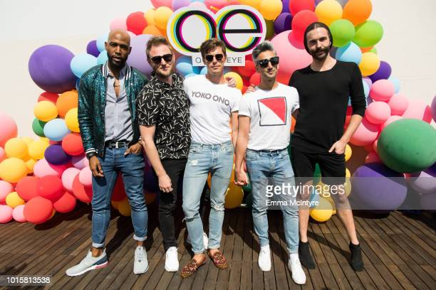 Karamo Brown Bobby Berk Antoni Porowski Tan France and Jonathan Van Ness attend Netflix's 'Queer Eye' Celebrates 4 Emmy Nominations with GLSEN at...