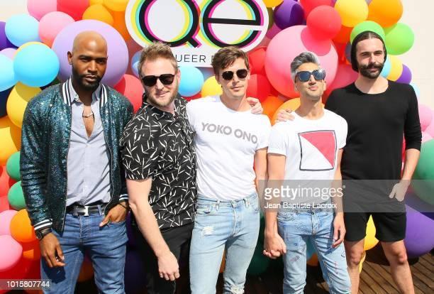 Karamo Brown Bobby Berk Antoni PorowskiTan France and Jonathan Van Ness attend Netflix's Queer Eye Celebrates 4 Emmy Nominations With GLSEN on August...