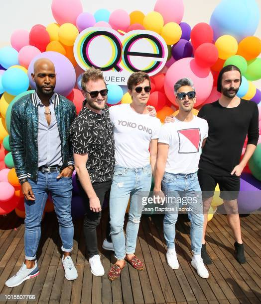 Karamo Brown Bobby Berk Antoni PorowskiTan France and Jonathan Van Ness attend Netflix's Queer Eye Celebrates 4 Emmy Nominations With GLSEN on August...