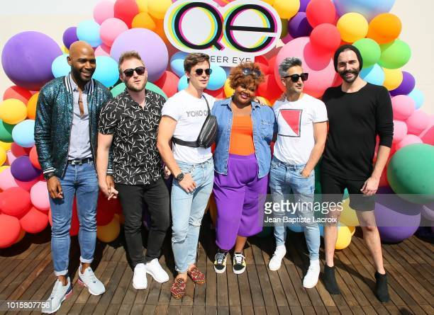 Karamo Brown Bobby Berk Antoni PorowskiTan France Nicole Byer Jonathan Van Ness and Nicole Byer attend Netflix's Queer Eye Celebrates 4 Emmy...