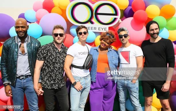 Karamo Brown Bobby Berk Antoni PorowskiTan France Nicole Byer Jonathan Van Ness and Nicole Byer attend Netflix's 'Queer Eye' Celebrates 4 Emmy...