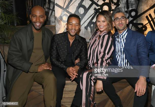 Karamo Brown, John Legend, Chrissy Teigen and Tan France attend The Queer Eye Emmy Cast Party hosted by Ketel One Family-Made Vodka at Kimpton La...