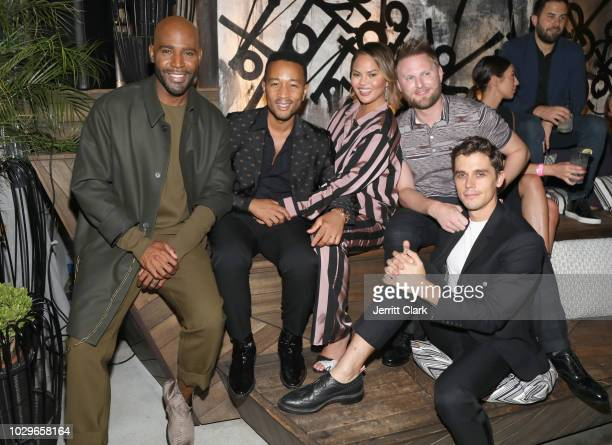 Karamo Brown John Legend Chrissy Teigen Bobby Berk and Antoni Porowski attend The Queer Eye Emmy Cast Party hosted by Ketel One FamilyMade Vodka at...