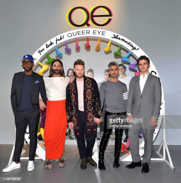 "Karamo Brown, Jonathan Van Ness, Bobby Berk, Tan France, and Antoni Porowski attend the Netflix FYSEE ""Queer Eye"" panel and reception at Raleigh..."
