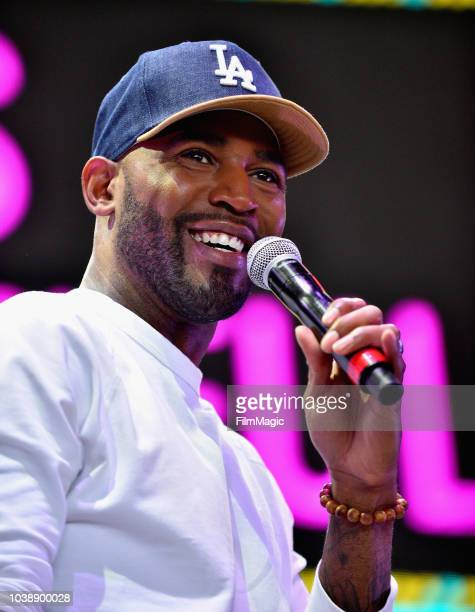 Karamo Brown speaks on Fremont Stage during the 2018 Life Is Beautiful Festival on September 23, 2018 in Las Vegas, Nevada.