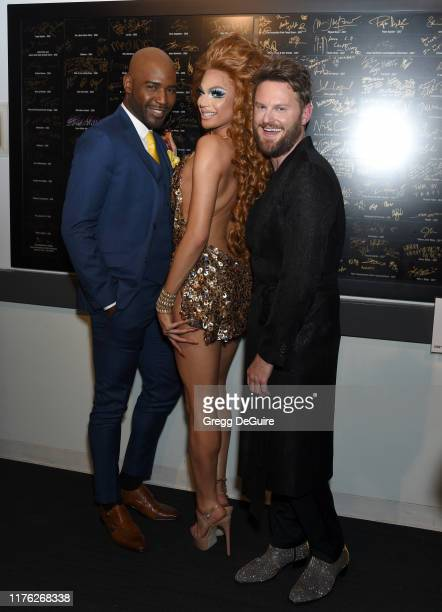 "Karamo Brown, Valentina and Bobby Berk attend Los Angeles LGBT Center Celebrates 50th Anniversary With ""Hearts Of Gold"" Concert & Multimedia..."