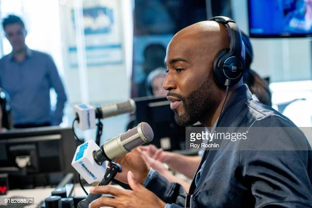 Karamo Brown visits SiriusXM to talk about the 'Queer Eye for the Straight Guy' reboot at SiriusXM Studios on February 14 2018 in New York City
