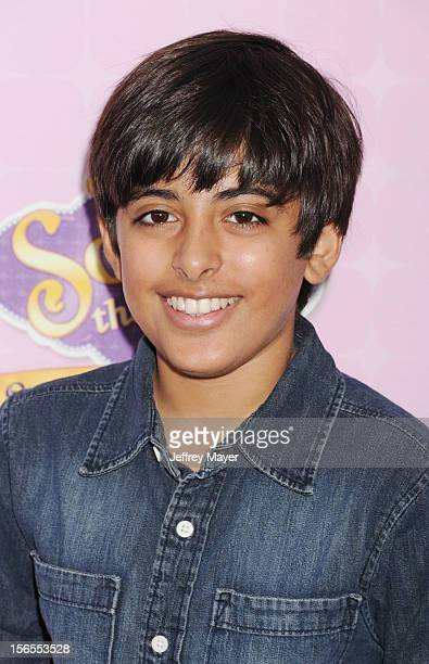 Karan Brar arrives at the Disney Channel's Premiere Party For 'Sofia The First Once Upon A Princess' at the Walt Disney Studios on November 10 2012...