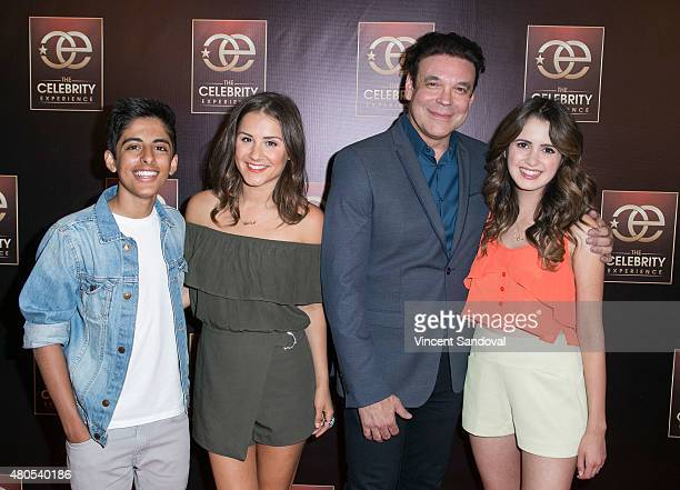 Karan Brar Electra Formosa George Caceres and Laura Marano attend The Celebrity Experience panel at Universal Hilton Hotel on July 12 2015 in...