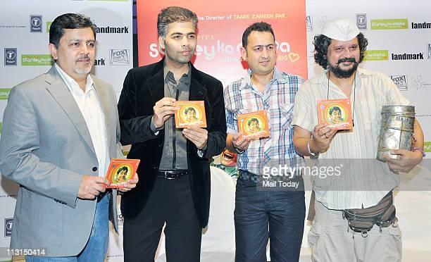 Karan Johar and Amol Gupte at the music launch of 'Stanley Ka Dabba' at Landmark, Mumbai on April 21, 2011