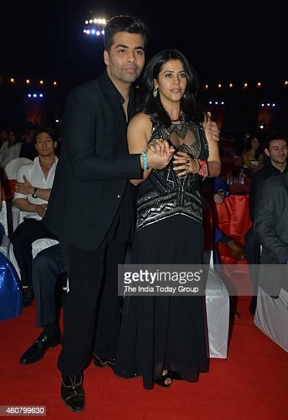 Karan Johar and Ekta Kapoor at Big Star Entertainment Awards 2014 in Mumbai