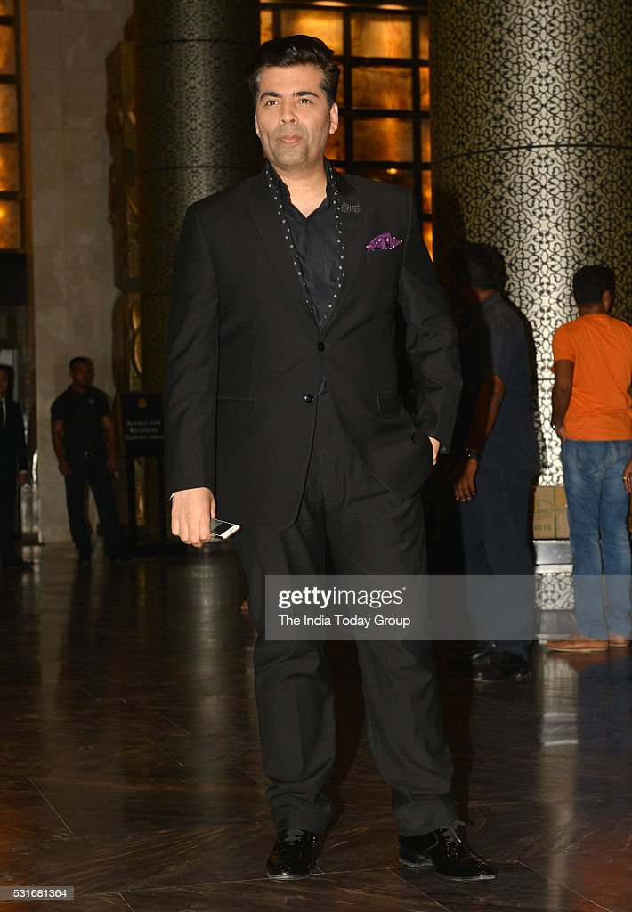 Karan Johar at Preity Zinta and Gene Goodenoughs wedding reception ceremony at St Regis Hotel in Mumbai