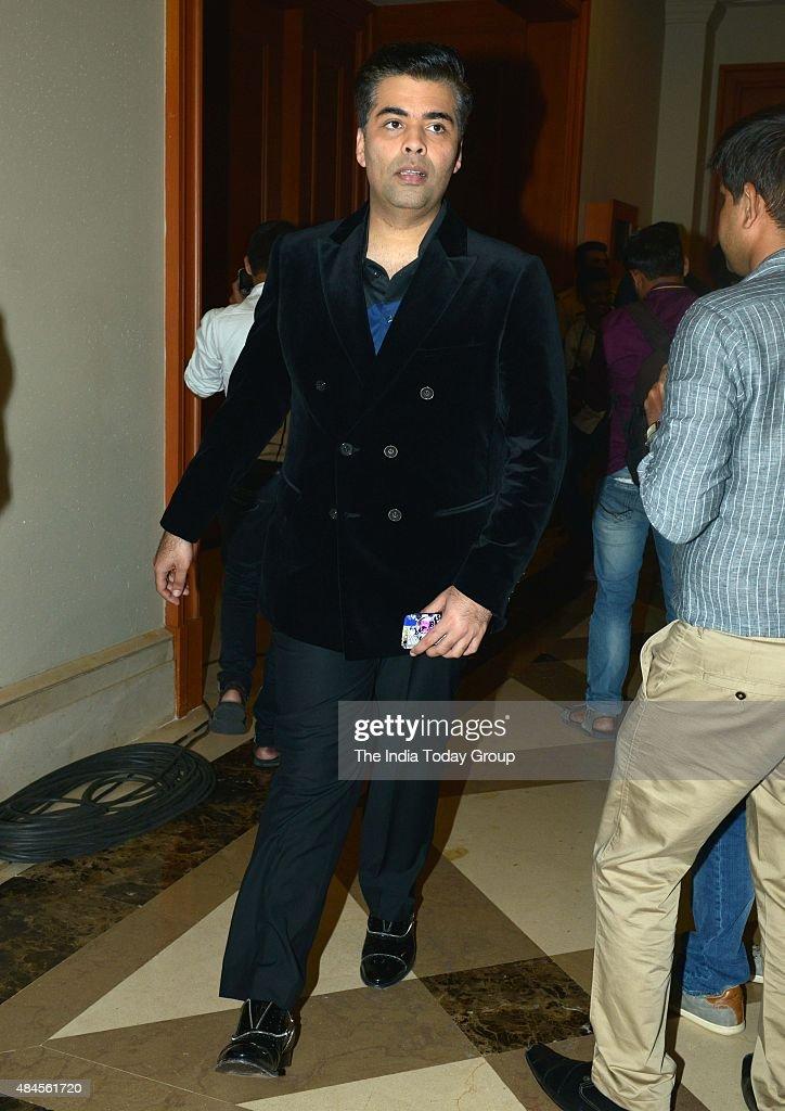 Karan Johar at the launch of Twinkle Khannas book Mrs Funnybones in Mumbai