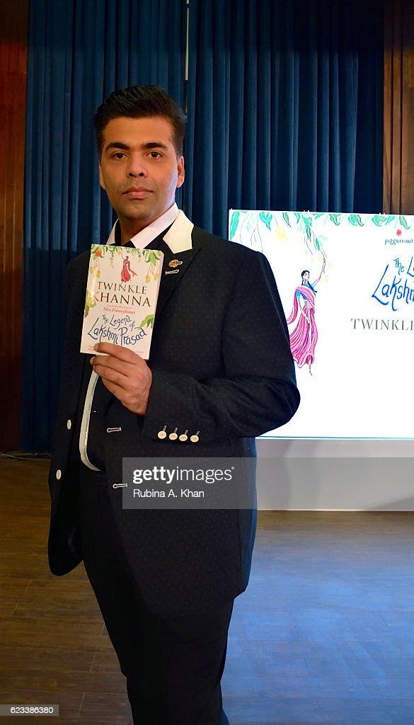 Karan Johar at the launch of Twinkle Khanna`s second book The Legend of Lakshmi Prasad published by Juggernaut Books at the JW Marriott on November...