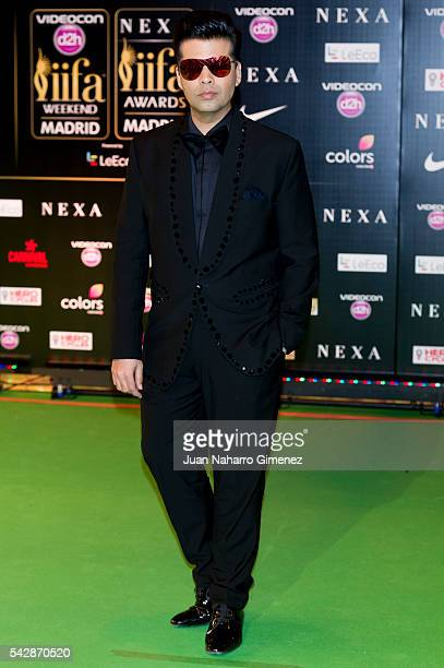 Karan Johar attends IIFA Awards 2016 Rocks Green Carpet at Ifema on June 24 2016 in Madrid Spain