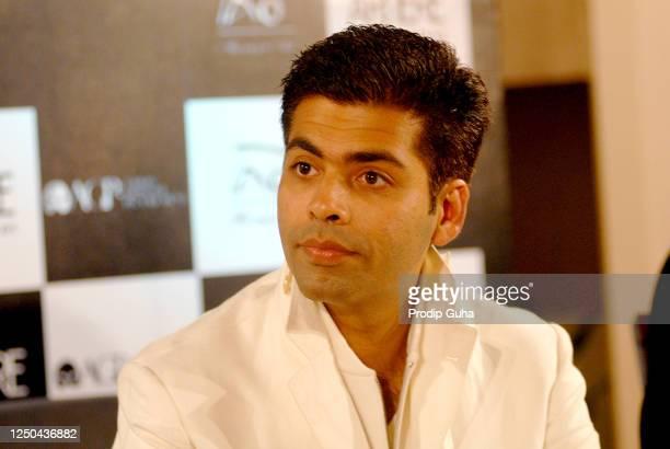 "Karan Johar attends the ""Alchemist"" by Paulo Coelho book launch on July 11 2008 in Mumbai India"