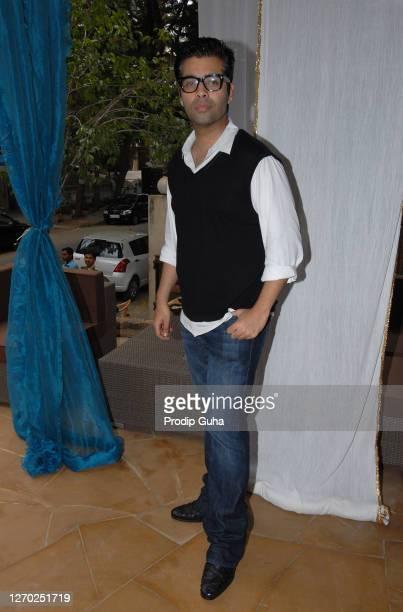 Karan Johar attends the Twinkle Khanna's White Window introducing the Holiday Line 'Villa Tara', a range of Home Decor and resort wear on April 09,...