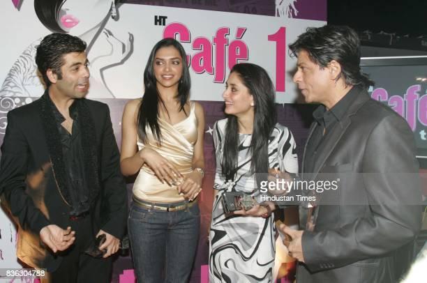 Karan Johar Deepika Padukone Kareena Kapoor and Shahrukh Khan at HT Cafe Awards