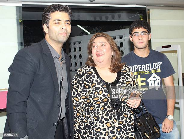 Karan Johar with Ritu Nanda at the launch of a store in Mumbai on April 18 2010
