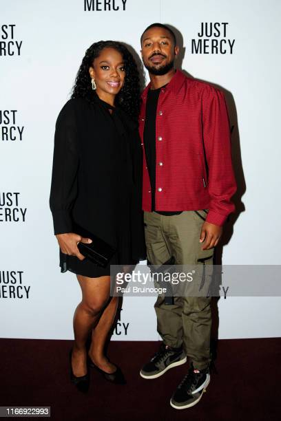 Karan Kendrick and Michael B Jordan attend Warner Bros Hosts A Special Screening Of Just Mercy at DGA Theater on September 8 2019 in New York City