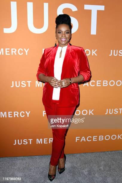 Karan Kendrick attends the LA Community Screening of Warner Bros Pictures' Just Mercy at Cinemark Baldwin Hills on January 06 2020 in Los Angeles...