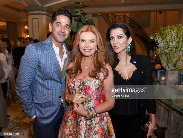Karan Khanna Roma Downey and Priyanka Khanna attend 'Box of Butterflies' Book Party on March 20 2018 in Beverly Hills California