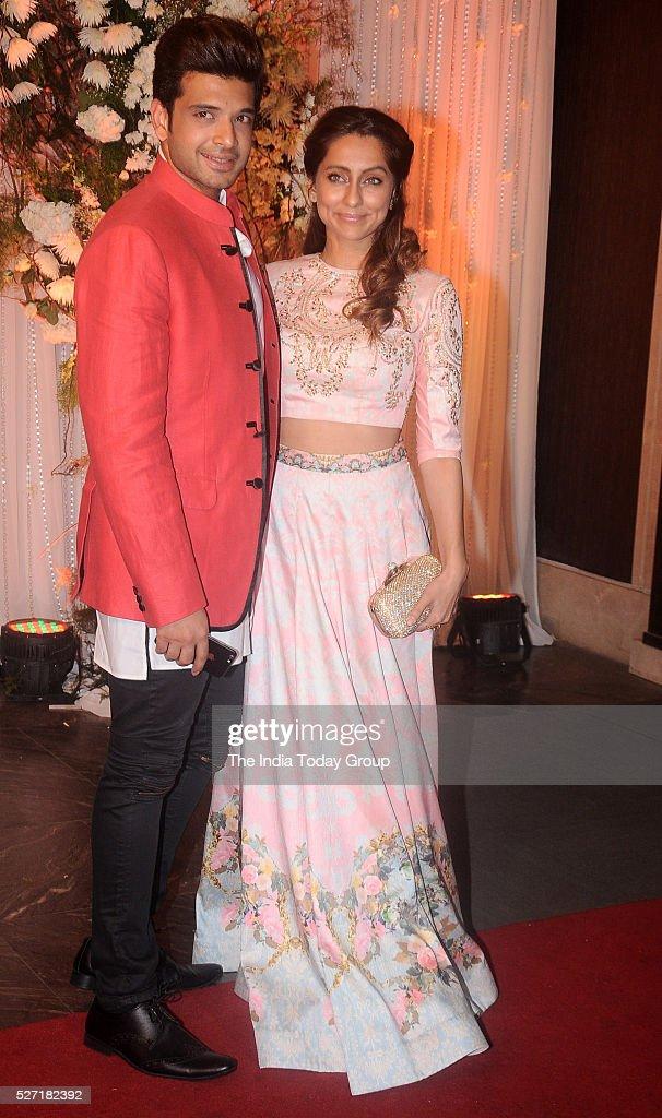 Karan Kundra and Anusha Dandekar at Bipasha Basu and Karan Singh Grovers wedding reception ceremony at St Regis Hotel in Mumbai