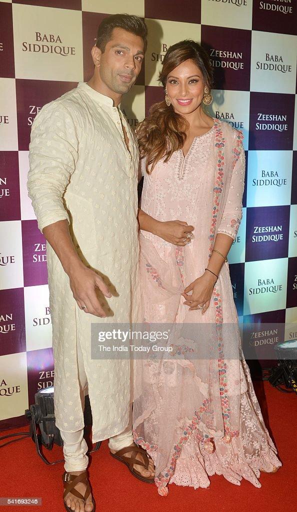 Karan Singh Grover and Bipasha Basu at Baba Siddiquis Iftar party at Taj Lands End in Mumbai