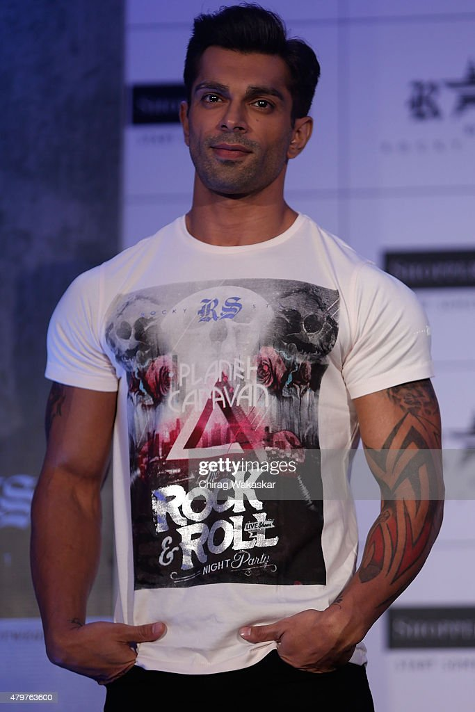 Karan Singh Grover presents Shoppers Stop`s Rocky Star`s RS brand at JW Marriott on July 7 2015 in Mumbai India
