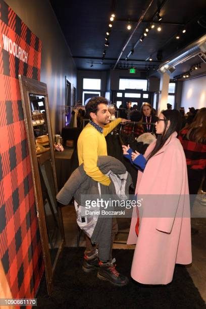 Karan Soni and Demi Moore attend The Vulture Spot during Sundance Film Festival on January 28 2019 in Park City Utah