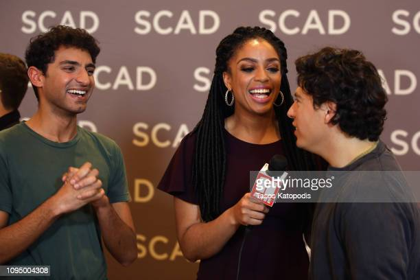 Karan Soni and Jon Bass attend the Miracle Workers press junket during SCAD aTVfest 2019 at SCADshow on February 7 2019 in Atlanta Georgia