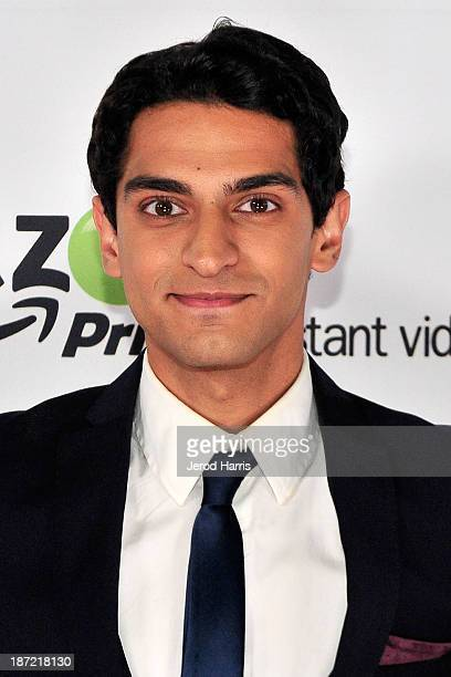 Karan Soni arrives at Amazoncom red carpet launch party for Alpha House and Betas Los Angeles Premieres at Boulevard3 on November 6 2013 in Hollywood...
