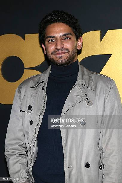 Karan Soni attends the STARZ PreGolden Globe Celebration at Chateau Marmont on January 8 2016 in Los Angeles California