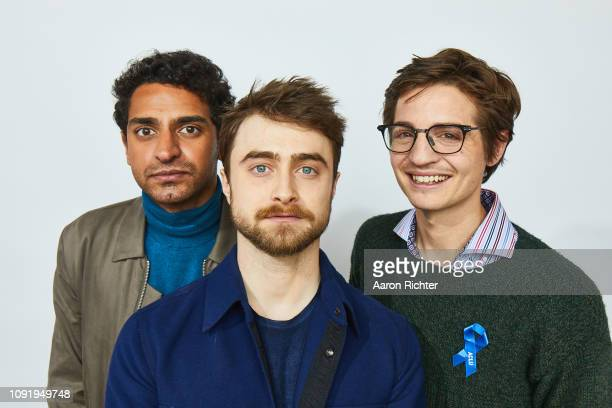 Karan Soni Daniel Radcliffe and Simon Rich from 'TBS' Miracle Workers' pose for a portrait in the Pizza Hut Lounge in Park City Utah on January 26...