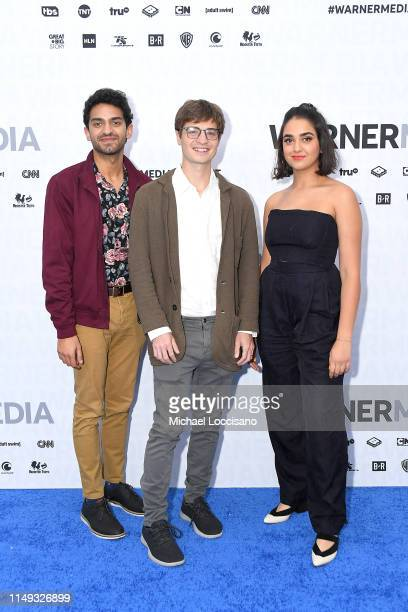 Karan Soni Simon Rich and Geraldine Viswanathan attend the WarnerMedia 2019 Upfront at One Penn Plaza on May 15 2019 in New York City