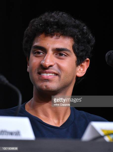 Karan Soni speaks onstage at Bobcat Goldthwait's Misfits and Monsters panel during ComicCon International 2018 at San Diego Convention Center on July...
