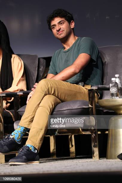 Karan Soni speaks onstage at the Miracle Workers screening during SCAD aTVfest 2019 at SCADshow on February 7 2019 in Atlanta Georgia
