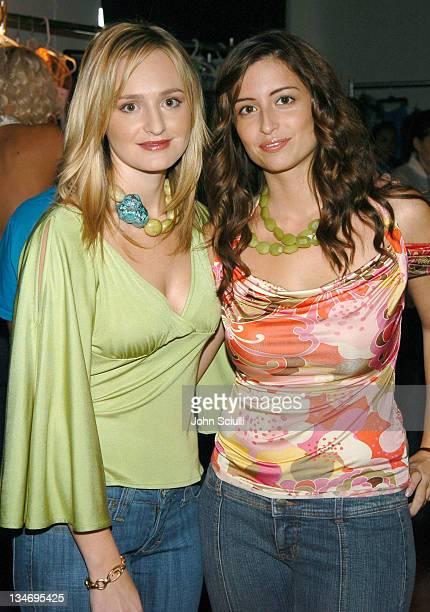 Karanina designers Nina Firestone and Kara Smith during MercedesBenz Spring 2005 Fashion Week at Smashbox Studios Karanina Backstage at Smashbox...