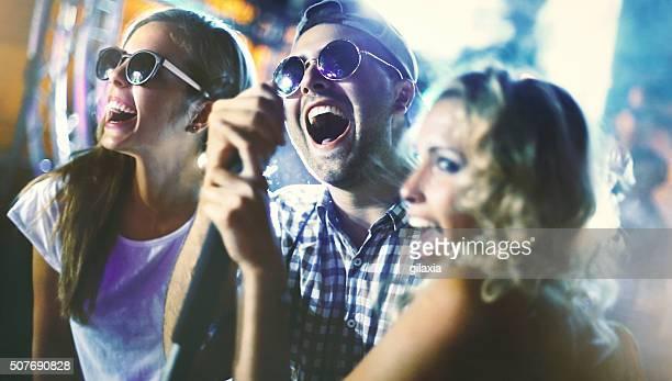 Karaoke-party.