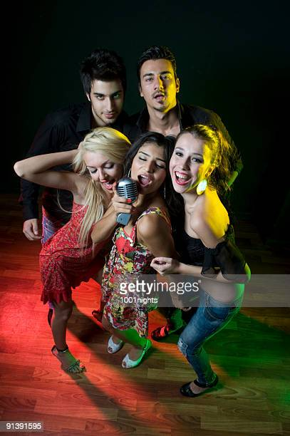 karaoke - pop musician stock photos and pictures