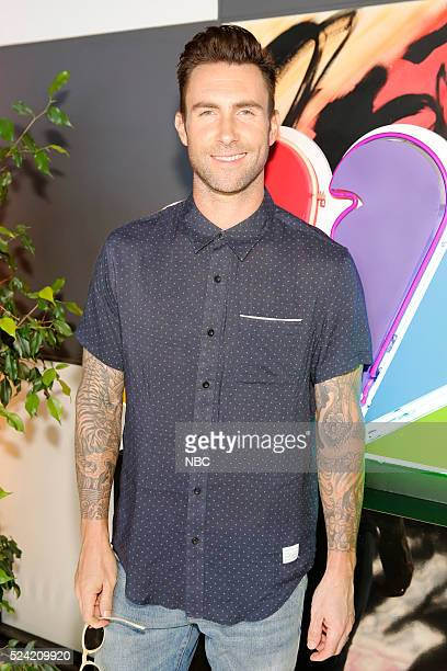 THE VOICE 'Karaoke Press Event' Pictured Adam Levine