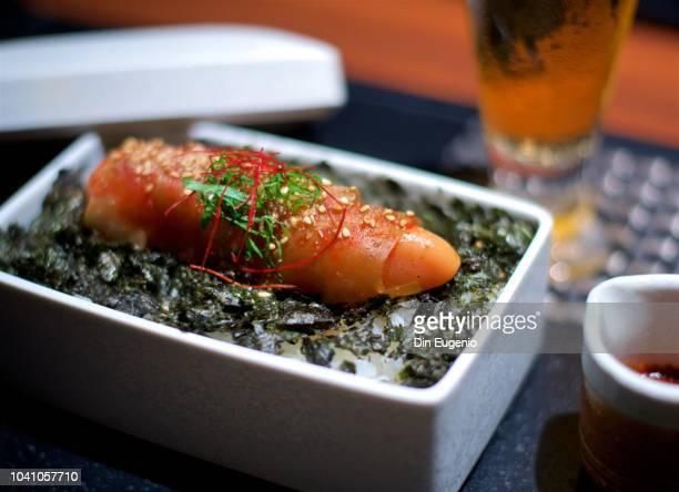 """karashi-mentaiko"" a popular japanese side dish. - fukuoka prefecture stock pictures, royalty-free photos & images"