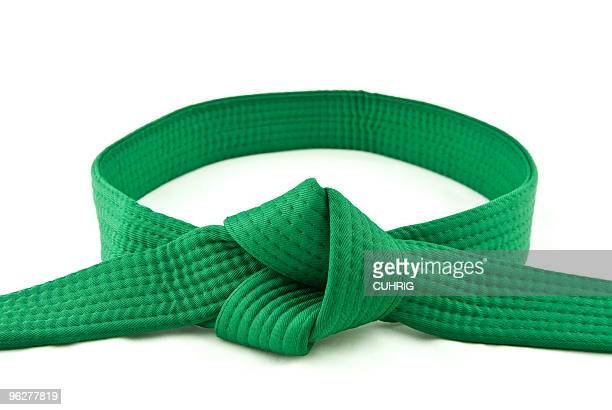 karate belt  green - belt stock pictures, royalty-free photos & images